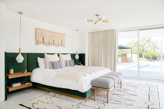Mandy Moore master bedroom by Sarah Sherman Samuel