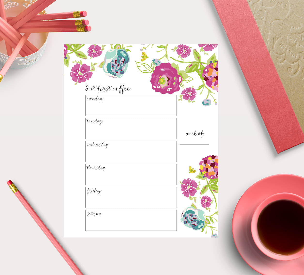 Free to do list printable by Bari J.