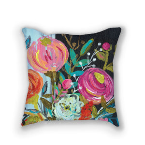 Bouquet One // Stunning floral pillows by Bari J. // Home Decor // Interior Design // Click here to purchase.