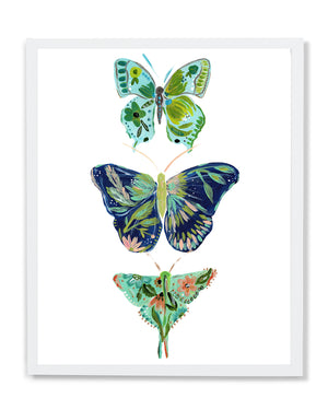 Butterfly Trio • Art Print - Bari J. Designs