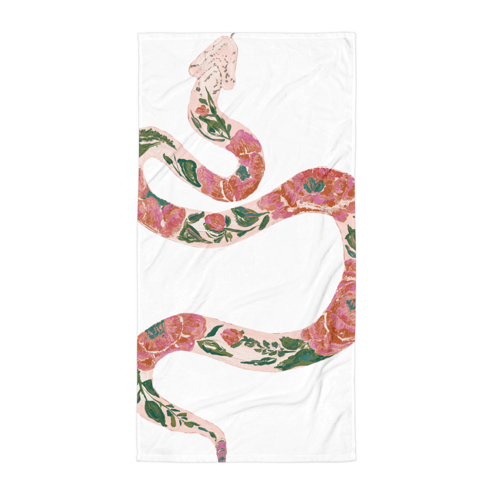 Time's Up • Snake • Beach Towel