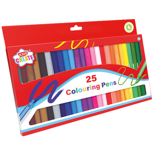 Is your child into arts & crafts? Then he/she will love this colouring pens pack, with 25 different colours to choose from, they will be able to create all different kinds of art work, from rainbows to master pieces, great for a rainy day