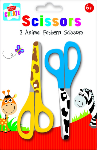 Is your child into arts & crafts? Then he/she will love this pack of scissors, each pack comes with 2 pairs of scissors, each with a different animal print, one has giraffe print and the other is a very bold black and white zebra print, these scissors are ideal for you little ones to get creative with, they will be able to cut through card and paper and make some wonderful creations for friends and family, great for use as a rainy day activity.