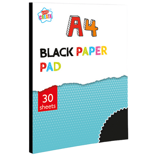 Is your child into arts & crafts? Then he/she will love this A4 Black Paper Pad, imagine the artwork your little one will be able to create with this great A4 Black Paper Pad, great for use as a rainy day activity, they will enjoy folding and cutting this fantastic paper.  Can be easily torn out of the pad and used for all kinds of cutting and folding activities.