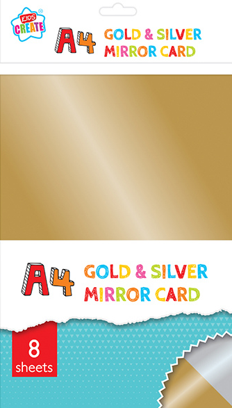 Is your child into arts & crafts? Then he/she will love this gold & silver mirror card pack, imagine the artwork your little one will be able to create with this stunning gold & silver mirror card, great for use as a rainy day activity, they will enjoy folding and cutting this fantastic card.