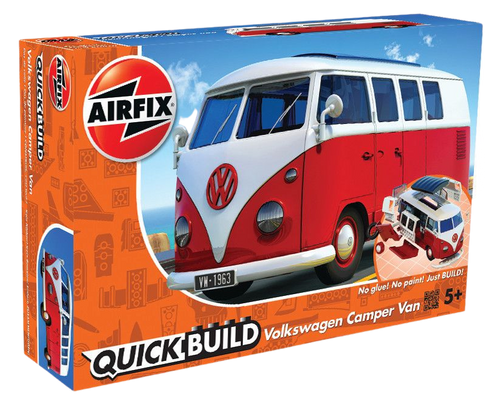 Enjoy the nostalgia of this Airfix QUICK BUILD VW Camper Van brought to you by Hornby Hobbies, this vintage classic model kit will create hours of fun, an exciting simple, snap together model suitable as an introduction to modelling for kids or as a bit of construction fun for the more experienced modeller.