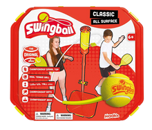 Load image into Gallery viewer, Swingball is sporty fun for all the family, this classic game has been re-invented so it is now able to be played on all surfaces.  Just fill the base and take to all your favourite places, festivals with friends, in the garden with family, even in the street with your neighbours.