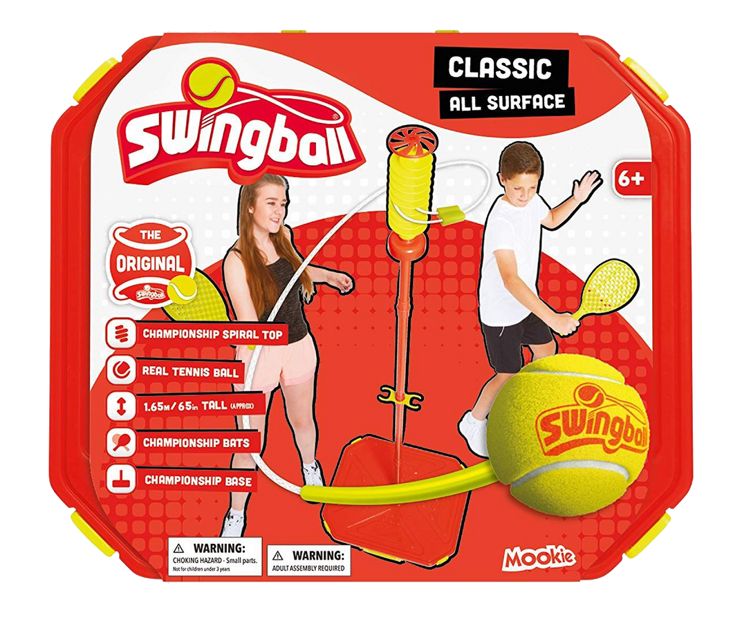 Swingball is sporty fun for all the family, this classic game has been re-invented so it is now able to be played on all surfaces.  Just fill the base and take to all your favourite places, festivals with friends, in the garden with family, even in the street with your neighbours.