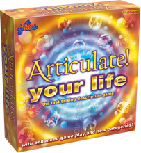 Load image into Gallery viewer, Articulate your life brought to you by Drummond Park, is the exciting, fast paced description game that takes all the fun of the classic Articulate! game and gives it a TWIST.  Articulate you life has new categories, new bonuses and a variable time limit.  Articulate your life will create laughter for all the family, all year round.