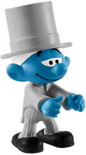 Load image into Gallery viewer, The Schleich® figurines are all modelled in finest detail and encourage children to play and learn at the same time. The Smurf groom is very happy, because he's getting married today in his top hat and tails.