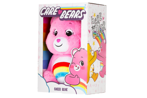 Cheer Bear is a very happy, bright pink care bear who helps others see the bright side of life.  She will sometimes even do a cheer to help make someone happier! Each bear comes with a specail care coin to collect & share! Each coin includes a way to share your care by showing others how much you care out loud! Say! Show it! Share it!