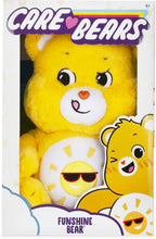 Load image into Gallery viewer, Playful Funshine Bear works hard to make sure that everyone is having a good time. His sense of humour makes him the life of any party and he really knows how to have fun. Each bear comes with a special care coin to collect & share! Each coin includes a way to share your care by showing others how much you care out loud! Say! Show it! Share it!