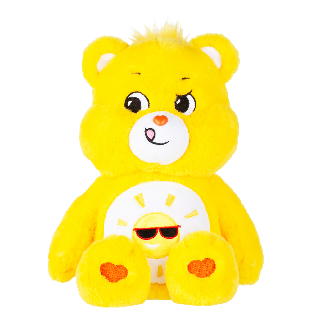 Playful Funshine Bear works hard to make sure that everyone is having a good time. His sense of humour makes him the life of any party and he really knows how to have fun. Each bear comes with a special care coin to collect & share! Each coin includes a way to share your care by showing others how much you care out loud! Say! Show it! Share it!
