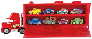 For every child that loves the Disney Pixar movie cars, they will love the Cars Mini Mack Truck Transporter, comes complete with one Lightening McQueen mini car, little ones can pretend to be Mack the truck transporting cars across the freeway, losing themselves in their imagination.