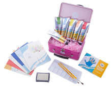 Load image into Gallery viewer, Children's Finger Paint Kit (Pink) Ideal for boys or girls, this wonderful set will get imaginations running wild and creative juices flowing, your little artist can create some artwork that will be kept forever, so get your fridge doors ready!