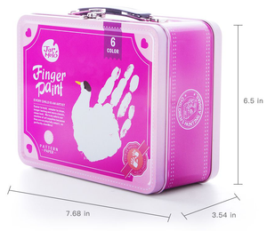 Children's Finger Paint Kit (Pink) Ideal for boys or girls, this wonderful set will get imaginations running wild and creative juices flowing, your little artist can create some artwork that will be kept forever, so get your fridge doors ready!