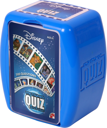 Top Trumps with a twist, this Disney Edition quiz game features all your favourite movies such as, Little Mermaid, Toy Story, Lion King, Snow White and many more.