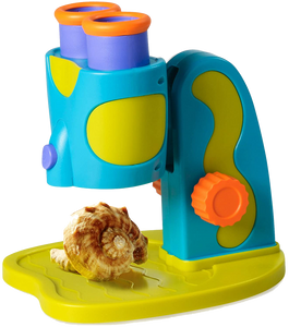 Does your child love science? Explore your world with My First Microscope.  Ignite the spark in every child! There is a light inside all of us that shines brightest when we are playing.  Specimin tray holds flat and 3D objects so your child can investigate all kinds of wonderful objects.