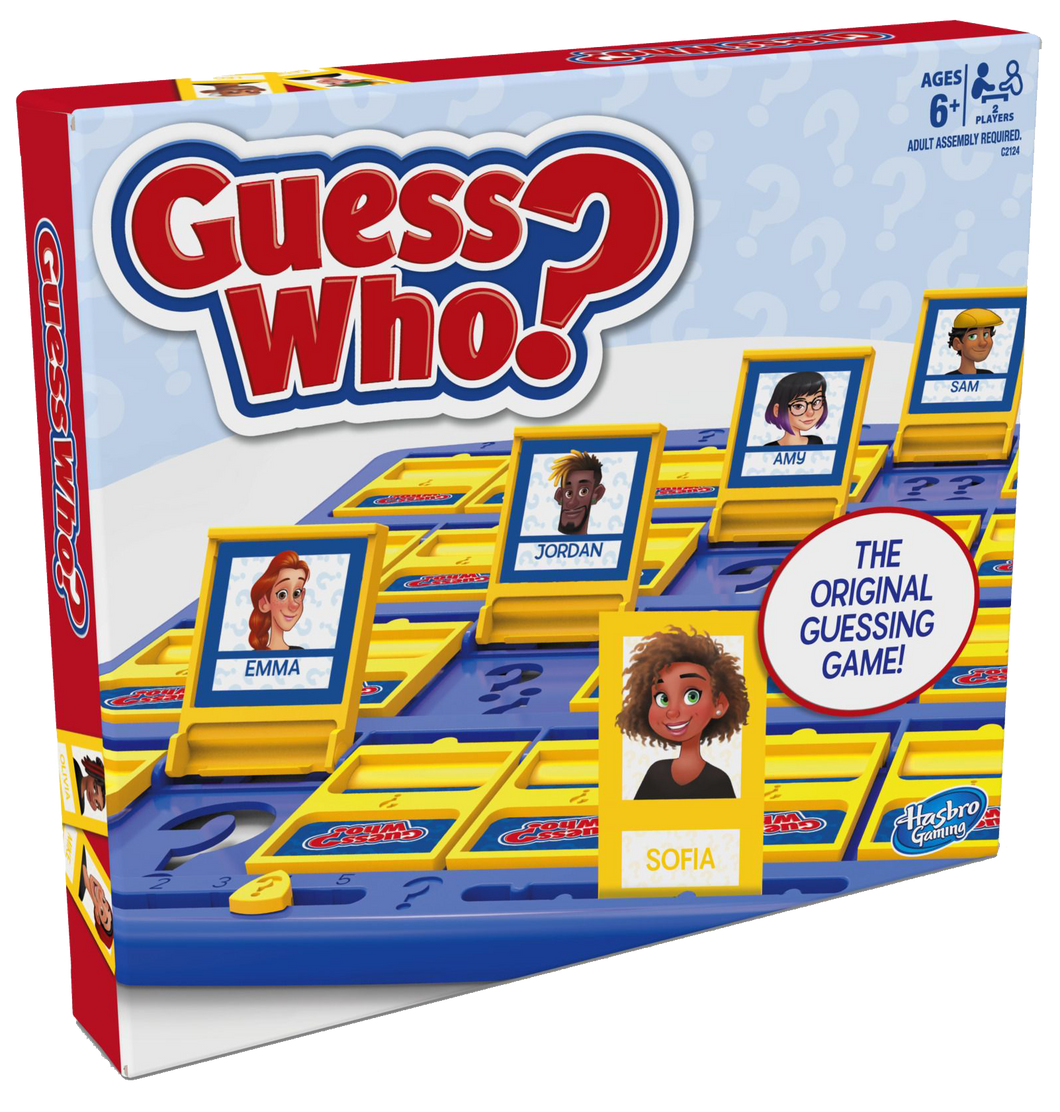 Guess Who? The original guessing game! Guess your opponent's mystery character first to win! Features classic tabletop boards! Ask your opponent question's such as 'Is your person wearing a hat?' if the answer is no then put down all the people that do have a hat on! Ask all the right questions until you are left with the person your opponent has to win the game.