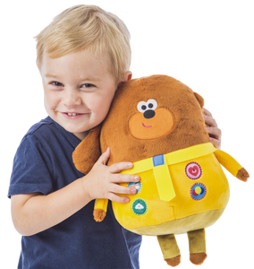 Hey Duggee Hug n Woof is the super fun interactive toy for your little one, press the badges to hear music and sounds, you child will be taking this cuddly toy everywhere with them.