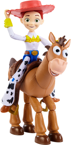 Jessie & Bullseye come to life! Boys and Girls will love to pretend that these lovable characters are alive as they reenact scenes from Toy Story,  Jessie & Bullseye are best pals and your little one can take them on adventures where ever they go.
