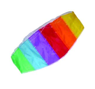 1 Kite, 2 Handle with line and a pouch The kite has vibrant colours and in the sky has eye-catching results This lovely kite is simple to fly and looks great in little hands  Good to know: