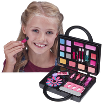 Load image into Gallery viewer, Every little girl loves to watch mummy do her make-up, and if he gets to use some of mummy's make-up then even better, well now your little one can use her own make-up from her very own make-up bag, it's perfect to use as a handbag that your daughter can take with her and pretend to be grown up.  You and your little girl can have a pamper night together doing beautiful sparkly make-up and nails, with over 16 colours for eyes, lips and cheeks.
