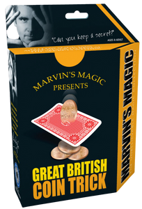 Marvin's Magic presents a superb collection of unbelievable magical effects for young and old alike, recreate a classic 'sleight-of-hand' trick easily within minutes!  Four coin invisible jump, one by one, from card to card in a most impossible way!