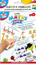 Load image into Gallery viewer, These fantastic wipe clean work sheets that come with a pen, are fantastic for aiding your child's learning, we have 3 to choose from, that help with spelling, times table and general maths & numbers, each pack come with 20 sheets.  Each pack helps with different things
