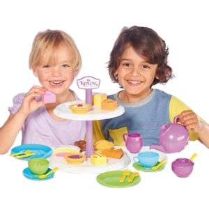 Humpty Dumpty are pleased to be offering the Mr Kipling cake stand with Tea set, this afternoon tea set includes such cakes as fondant fancy, bakewell tart, battenberg, jam tart and apple pie, your little ones can learn through role play by making teatime fun with shape sorting, fun with friends ideal for boys and girls