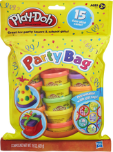 Load image into Gallery viewer, Share the fun with this 15 tub play-doh party bag, great for party favours and school gifts, years 2 and upwards can have hours of modelling fun!