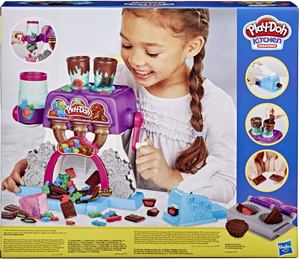 Play-Doh and chocolate, what better combination is there? All kids (and adults for that matter) will love playing with this fantastic set.  It's your very own chocolate factory, this candy will look so real, it looks good enough to eat and give to your friends and family!