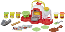 Load image into Gallery viewer, Girls and boys get to pretend they are making their very own pizza's with Play-Doh Stamp'N' Top Pizza maker! They can run their pizzeria and serve what they make to family and friends.