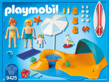 Load image into Gallery viewer, Playmobil Fun at the beach is great for boy and girls, your little one can pretend to be on a beach on a sunny day, playing in the sand and in the sea!