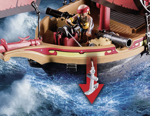 The Playmobil Pirates Ship is the ideal gift for any sailors out there!  Your child will have fun pretending to be a pirate and sailing the seven seas on this fantastic pirate ship!  They can fire canons and make the characters walk the plank!
