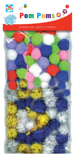 Is your child into arts & crafts? Then he/she will love these packs of pom poms, they come in assorted colours, some of the pom poms are even glittery which is great for the girls, they can be stuck with glue to cards for loved ones, fantastic for rainy day activities.  Your little ones will love to get creative with these fun pom poms.
