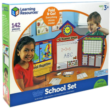 Load image into Gallery viewer, The Pretend & Play school set makes learning fun for kids! they can switch things arund and be a teacher and help all of their cuddly toys and dolls to learn as they would at school!  Every child likes to play being a grown up, it's so much fun!  There is everything in this set to make them feel like they are a real school teacher.