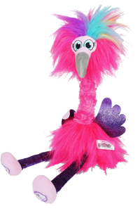 Flossi the Flamingo is the fantastically Sassi Flamingo that your little one will love to dance and sing with.  She dances and swirls when you press one of her feet.  Press and hold the other foot to talk to her, it will record your voice and she will talk back, so much fun for the whole family, your little one will be laughing their head off when they get to Floss with Flossi.