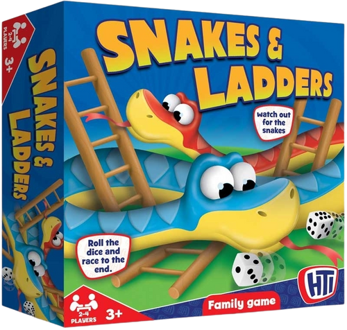 We all love the traditional family game of snakes and ladders, I don't know about you but I used to love playing this with my grandparents.  This is a great rainy day game for all the family to enjoy.  Your little one will love playing this simple game with their friends, to see who can get up the ladders without sliding down thew snakes.