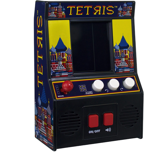 Everybody loves the classic game of Tetris, you can now play this fantastic arcade game in miniature, get ready to be addicted to dropping tetriminos into the slots, by rotating the different shapes.