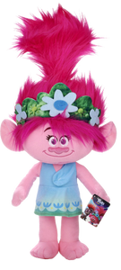 From the smash-hit animated comedy and musical adventure, Princess Poppy is back in Trolls 2 World Tour. Poppy, the happiest Troll ever born is beautifully recreated with her bright pink hair and her infectious smile. Create your own musical adventure with Poppy or simply snuggle down with this soft and cuddly plush toy.