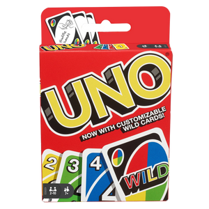 For more than 40 years, Uno has been a card game that just about everyone in the family can play. The object is simple – get rid of all your cards before everyone else. Match the number, colour, or type of card to play; use a wild if you don't have a match, or draw from the pile until you get a card you can play.  Fantastic as a travel game!