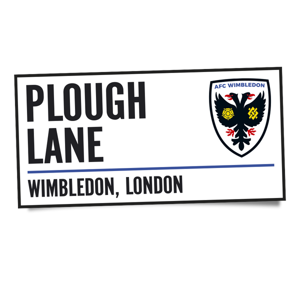 Plough Lane Window Sticker