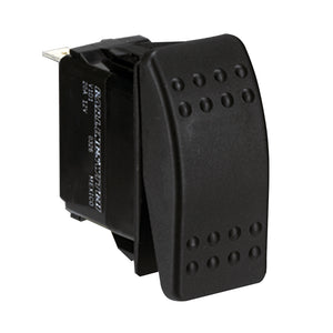 Paneltronics DPDT ON/OFF/ON Waterproof Contura Rocker Switch w/LEDs - Black [001-699]