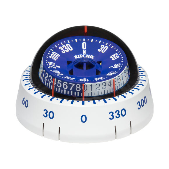 Ritchie XP-98W X-Port Tactician Compass - Surface Mount - White [XP-98W]
