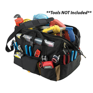 "CLC 1535 18"" Tool Bag w/ Top-Side Plastic Parts Tray [1535]"