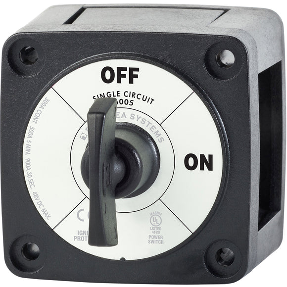 Blue Sea 6005200 Battery Switch Single Circuit ON-OFF - Black [6005200]