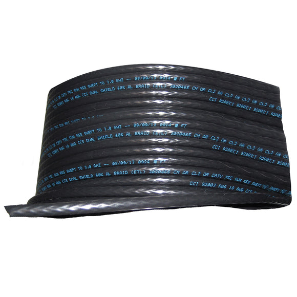 Cobra Wire RG/6 75 ohm SAT/TV Cable - 1000' - Black [RG/6 92003]