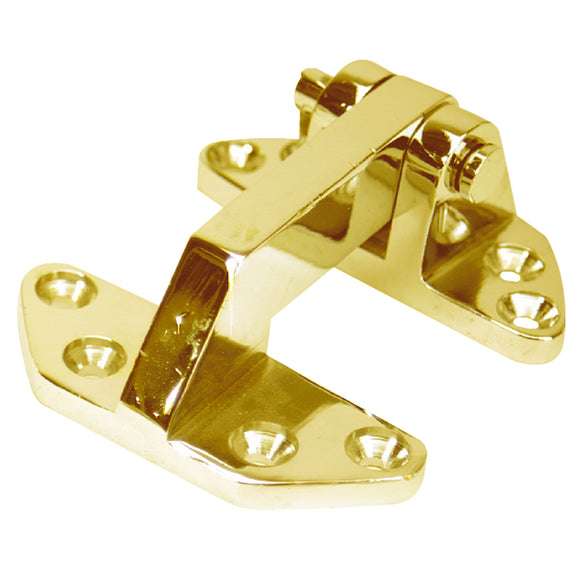 Whitecap Standard Hatch Hinge - Polished Brass - 2-5/8