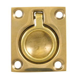 "Whitecap Flush Pull Ring - Polished Brass - 1-1/2"" x 1-3/4"" [S-3360BC]"